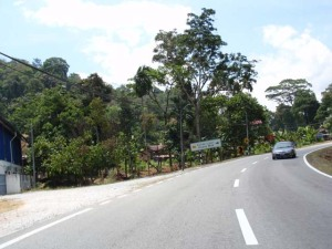 Kawasan kampung lepas tol Tapah