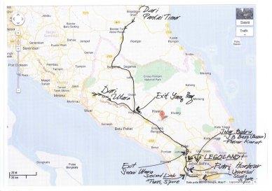 Bagaimana nak ke Legoland Malaysia - map