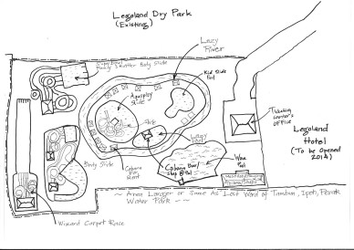 Legoland-Malaysia Map : Water Theme Park / Taman Air