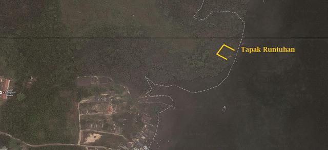 tapak-istana-runtuh Danga belakang Kota Iskandar Johor Bahru