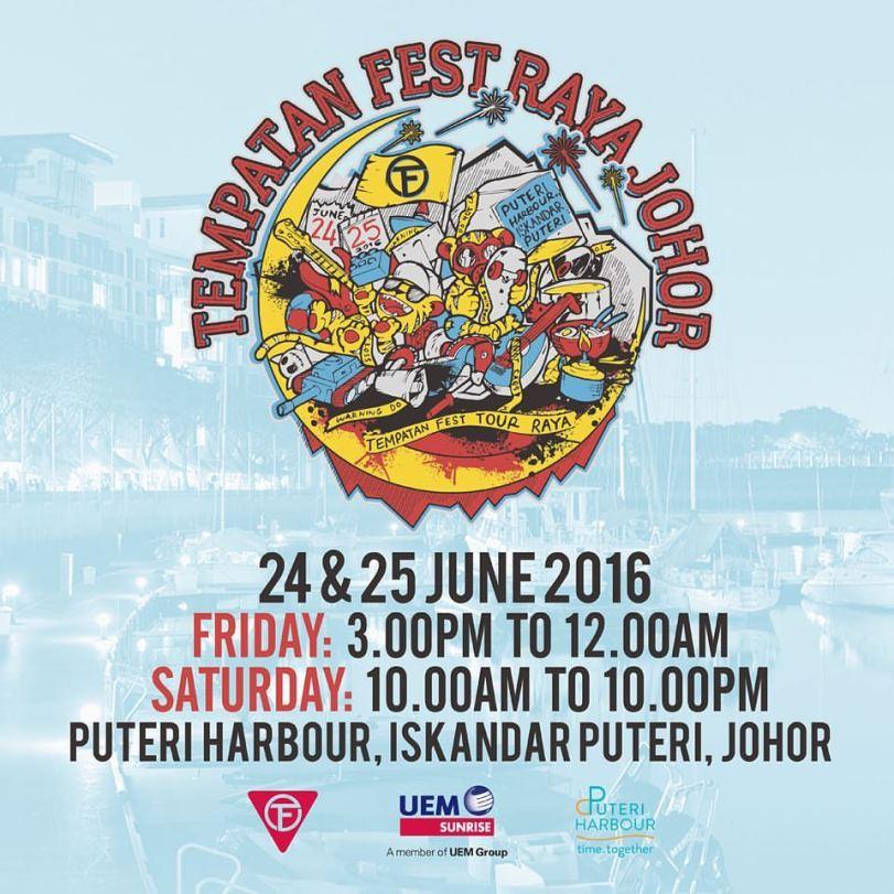 tempatan fest puteri harbour Raya 2016