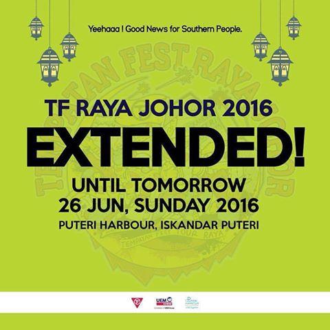 Dilanjutkan -Tempatan Fest Raya 2016, Puteri Harbour