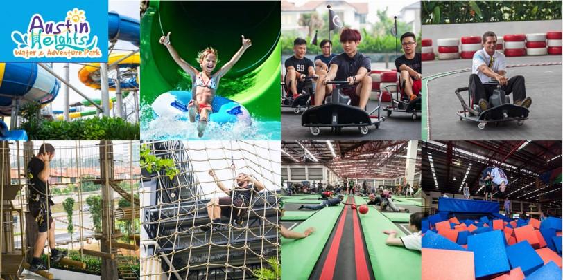 Tempat menarik kat Johor Bahru : Austin Height Water Park