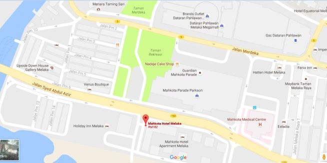 mahkota-hotel-melaka-map-how to go