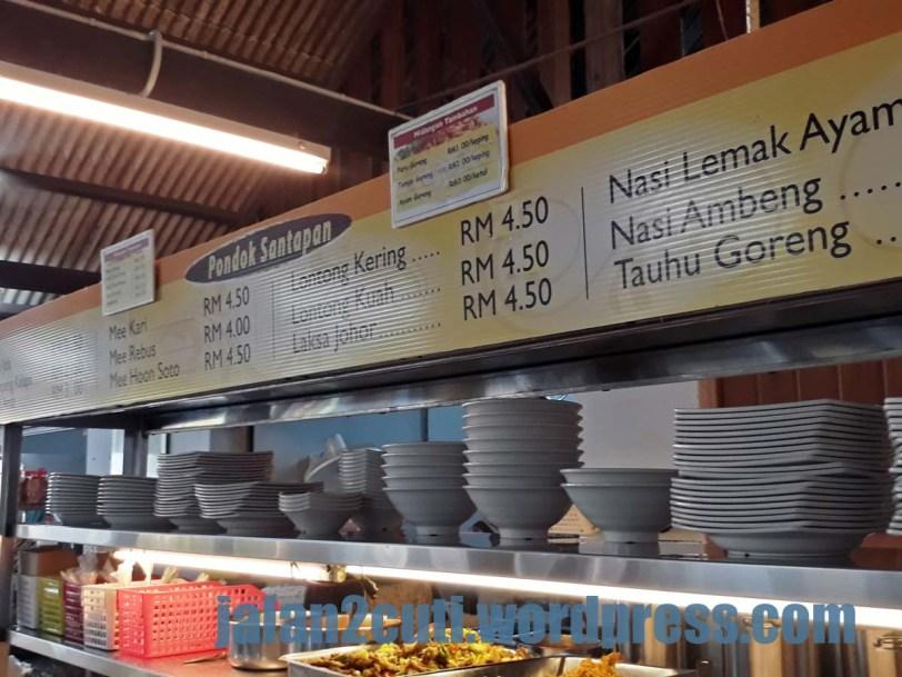 Tempat sarapan & makan best di Johor Bahru : Pondok Santapan, Larkin
