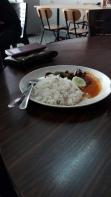 Nasi dagang lauk daging goreng Lokman Sri Skudai