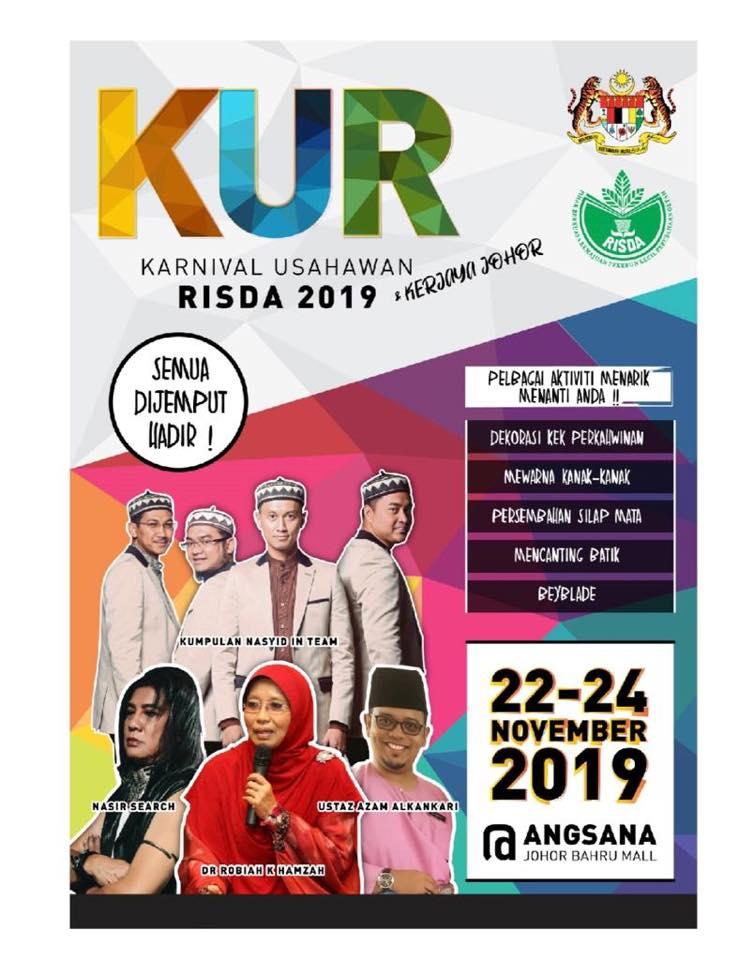 Karnival Usahawan RISDA 2019! Bermula 22-24 November 2019 @ Angsana Johor Bahru Mall.