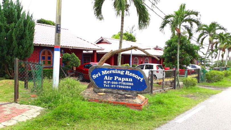 Sri Mersing Resort, Air Papan dan chalet-chalet percutian sekitar Mersing, Johor.